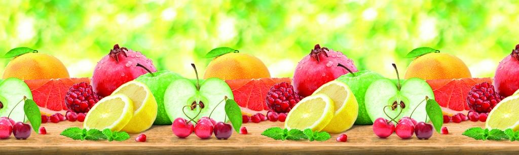 Фартук на кухню фрукты